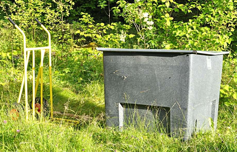 tillfällig placering av kompostbehållare