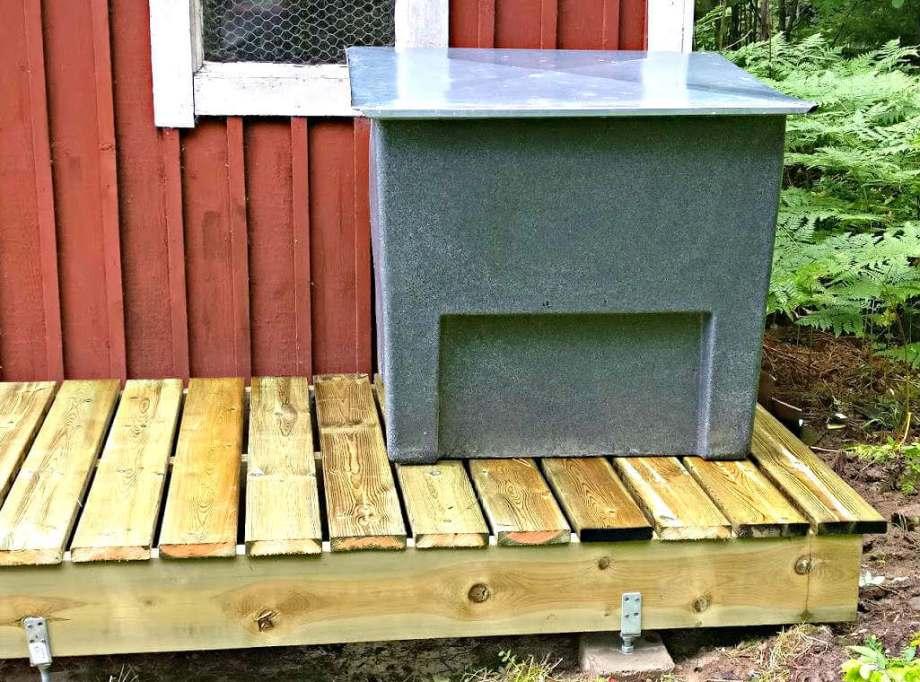 färdig ställning kompostbehållare