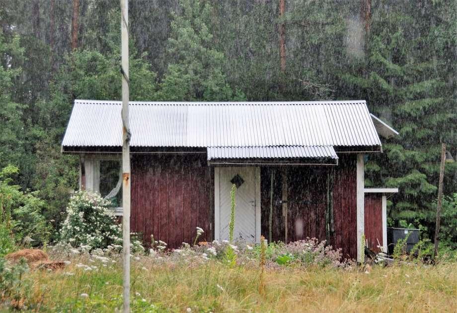 Gäststugan i regnet